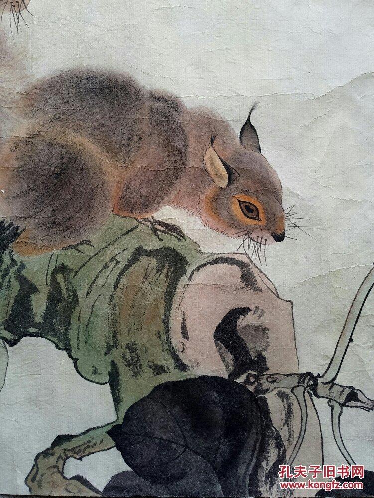 中国近现代美术史开派巨匠,动物画一代宗师刘奎龄《松鼠》