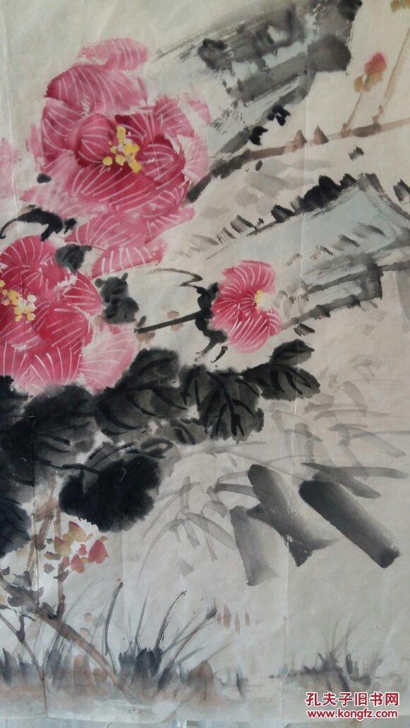 安徽著名老画家(朱白亭)四平尺……花鸟图片