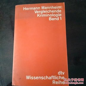Hermann Mannheim Vergleichende kriminologie Band 1