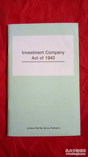 Investment Company Act of  1940