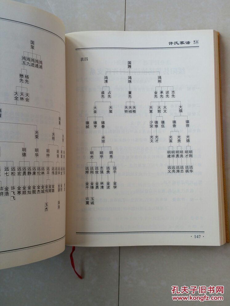 许氏家谱辈分排名图片