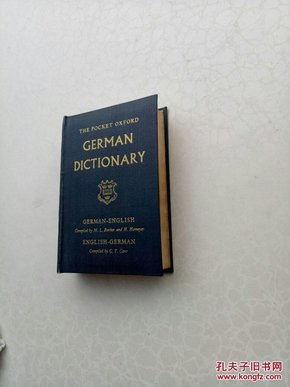 the pocket Oxford German dictionary      袖珍牛津德语词典The