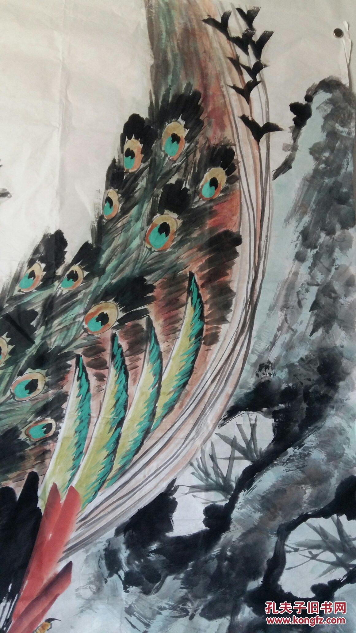 安徽著名老画家(葛俊生)四尺整张……花鸟图片
