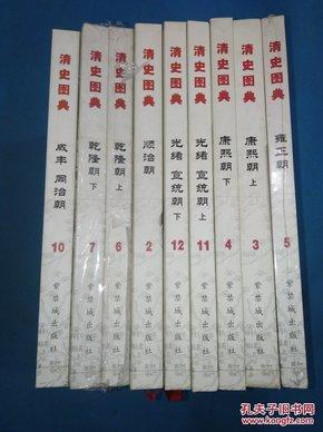 清史图典 清朝通史图录 共9本合售   详见描述