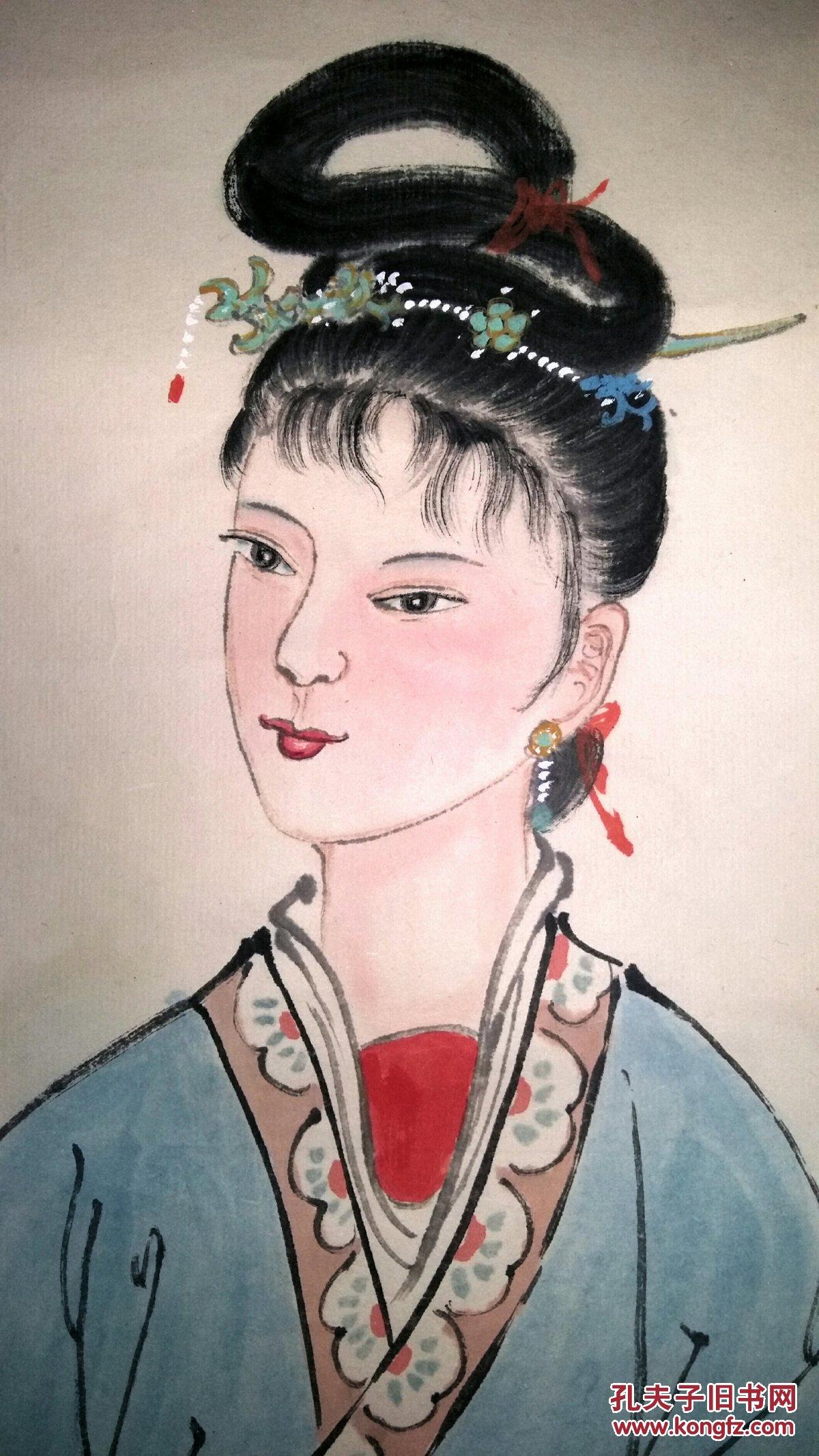 老装老裱……安徽著名老画家(张志仁)47×137……精品图片