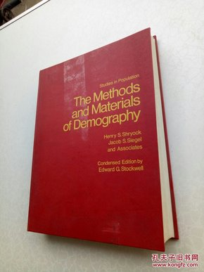 the methods and materials of demography     人口学方法与资料
