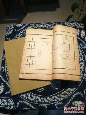 清同治九年崇文书局刻本《仪礼图》存卷三卷四 两册 大开本 印工好