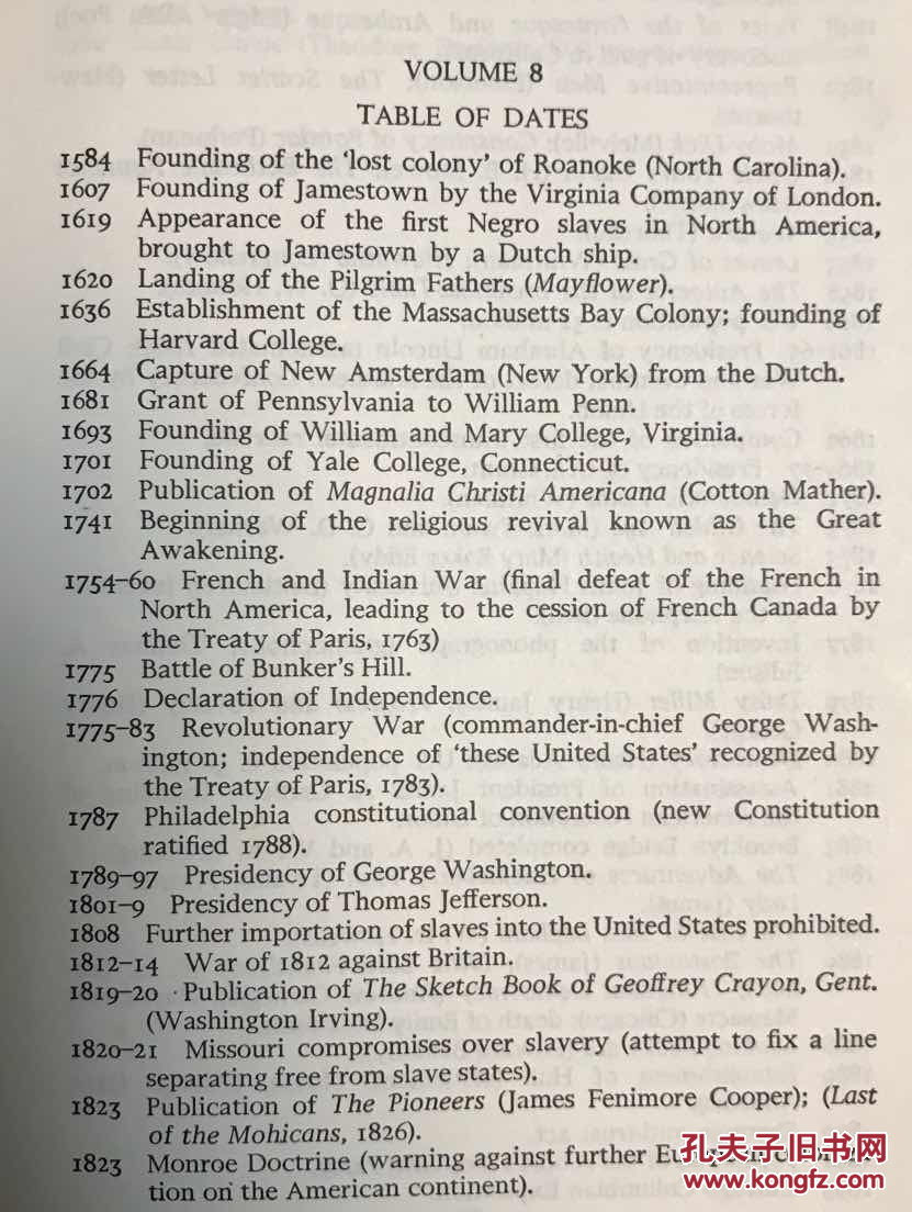 【图】全球英语文学史 第8卷 美国文学史 (从殖