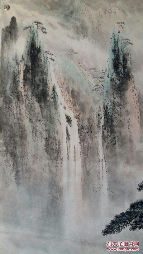安徽著名老画家(周觉钧)四尺斗方……山水图片