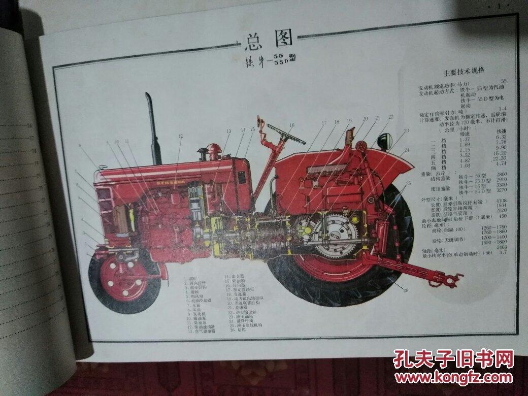 铁牛-55拖拉机结构图册(彩色图)