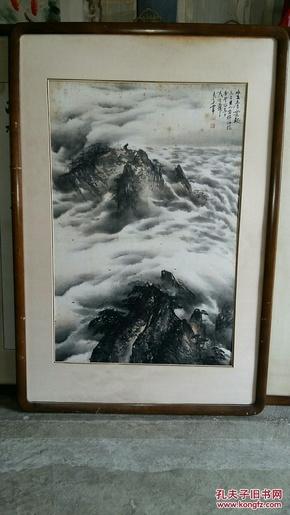 安徽著名老画家,徐子鹤大弟子(张良玉)68×45……山水……发货不带框图片