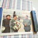 毛主席和周总理,朱委员长在一起 宣传画【下面红字】