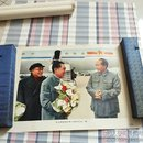 毛主席和周总理,朱委员长在一起 宣传画【下面黑字】
