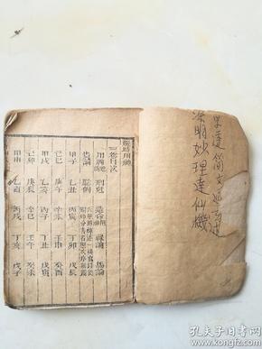 很少见的古代看日期的书,选时用神一册。