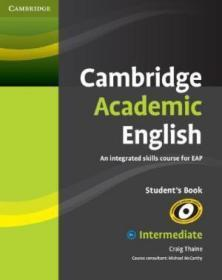 Cambridge Academic English B1+ Intermediate Students Book