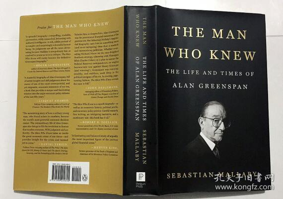 英文原版 The Man Who Knew:The Life and Times of Alan Greenspan 知道的人:艾伦·格林斯潘传记   精装