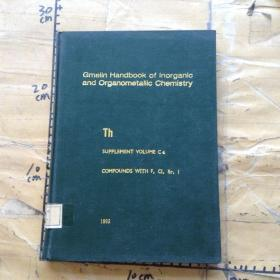 Gmelin Handbook of Inorganic and Organometallic Chemistry.Th.SUPPLEMENT VOLUME C4