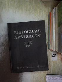 BIOLOGICAL ABSTRACTS 2002 VOLUME.109(20) 生物文摘2002年第109卷(20)