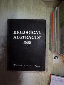 BIOLOGICAL ABSTRACTS 2001 VOLUME.108(22) 生物文摘2001卷108(22)