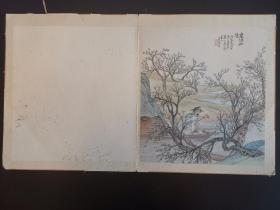 清代中期竹刻名家蘇州馬根仙《桃源仙境》工筆鏡片 雪白干凈