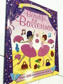 平装 beautiful ballerinas 带100张贴纸书