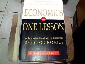 Economics in One Lesson:The Shortest and Surest Way to Understand Basic Economics