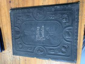 40810:老的皮的外文書殼或者文件夾一個