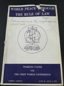 working paper world peace through the rule of law