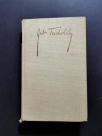 TUCHOLSKY(少見1963年出版著名文學評論家、詩人庫爾特·圖霍夫斯基著作,精裝外文原版)