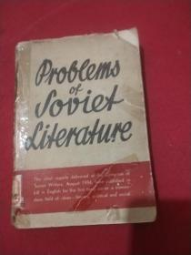 PROBLEMS OF SOVIET LITERATURE关于苏联文学