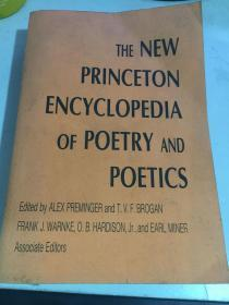 the new princeton encyclopedia of poetry and poetics普林斯顿诗学与诗歌百科全书