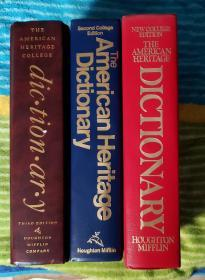 American  heritage  dictionary     1st  to  3rd  edition