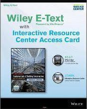 Fundamentals of Building Construction, 6e Wiley E-Text Card and Interactive Resource Center Access Card
