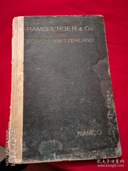 RAMSPERGER & Co LTD ZURICN SWITZERLAND (全书全部图片)  民国