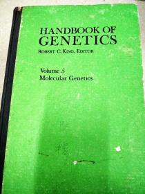 8797 handbook of genetics robert c,king editor volume 5 molecular genetics
