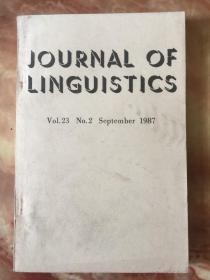 Journal of Linguistics Vol.23 No.2 September 1987