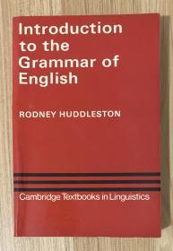 Introduction to the Grammar of English (Cambridge Textbooks in Linguistics) 9780521297042