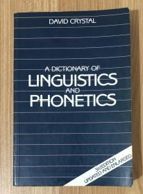 A Dictionary of Linguistics and Phonetics, Third Edition, Updated and Enlarged 现代语言学词典 9780631178712