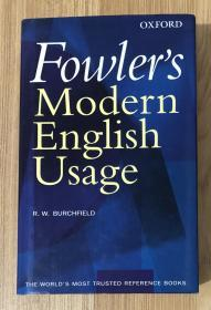 Fowler's Modern English Usage, Revised Third Edition 9780198610212