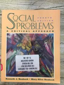 Social Problems: A Critical Approach (fourth edition)