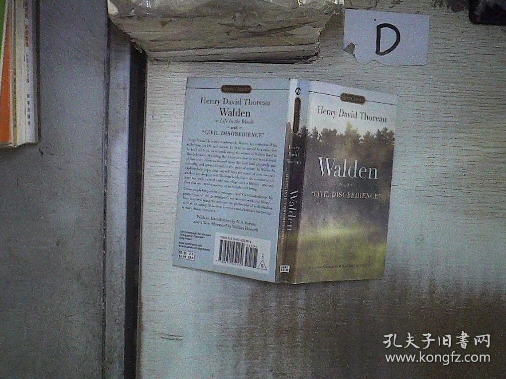 Walden and Civil Disobedience  瓦尔登湖