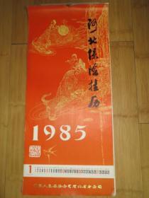 1985年掛歷全12個月 沈陽故宮博物館藏畫   中國人民保險公司河北省分公司  78*35厘米