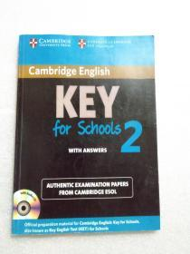 【英文版】Cambridge English Key for Schools 2   (内页有笔记划线 无光碟)
