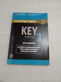 【英文版】Cambridge English Key for Schools7   (内页有笔记划线 无光碟)