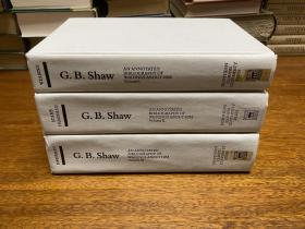 G.B . Shaw  An annotated   Bibliography of Writings about him    Volume 1-3