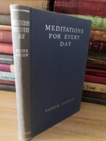 1962年签名 MEDITATIONS FOR EVERY DAY< 每天的冥想>