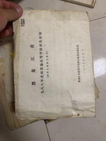 黑龍江省1988年全國普通高等學校招生計劃  橫16開本!