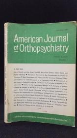 American Journal of Orthopsychiatiy(美國矯正精神病學雜志 1962年第1-3、5期 四冊合售)