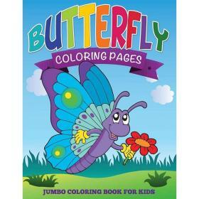 Butterfly Coloring Pages (Jumbo Coloring Book for Kids)【中图POD】