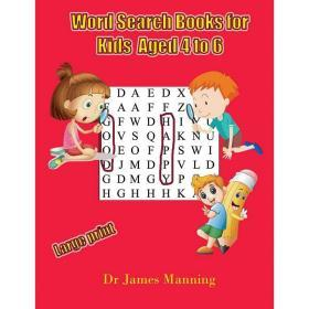 Word Search Books for Kids (aged 4 to 6)【中图POD】
